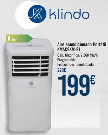 Oferta de Aire acondicionado Portátil KMAC9KM-21 por 199€