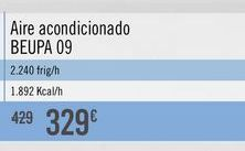 Oferta de Aire acondicionado BEUPA 09 por 329€