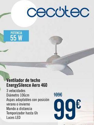 Oferta de CECOTEC Ventilador de techo EnergySilence Aero 460 por 99€