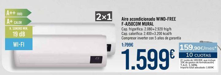 Oferta de Aire acondicionado WIND-FREE F-AJ50COM MURAL por 1599€