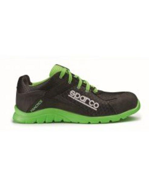 Oferta de Zapato seguridad s1p suela pu md src t40 malla transpirable negra/verde practice sparco por 85,85€