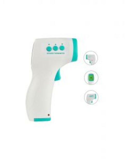 Oferta de Termometro corporal sin contacto infrarrojo distancia medicion 5cm rehent blanco       130007 por 30,19€