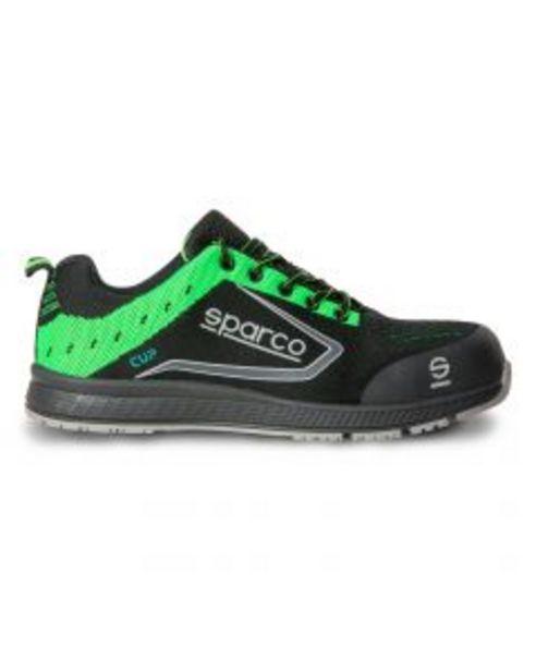 Oferta de Zapato seguridad s1p-src puntera composite t43 negra/verde cup sparco por 64,07€