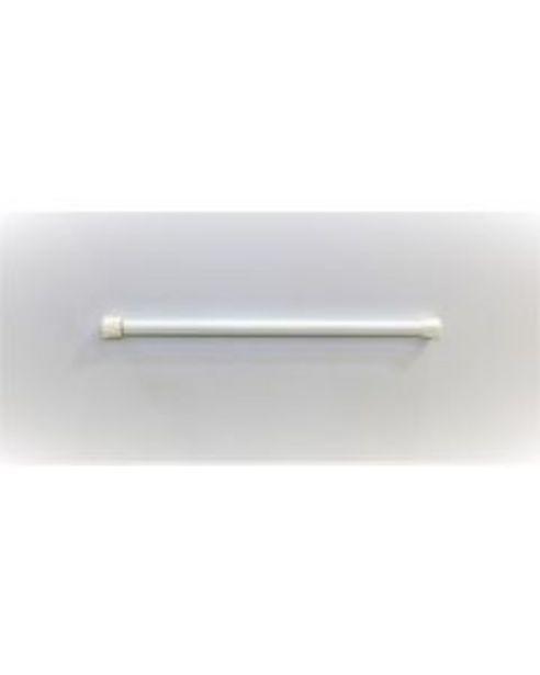 Oferta de Portavisillo decoracion extensible presion 30/50cm blanco vivahogar vh112454 por 1,5€