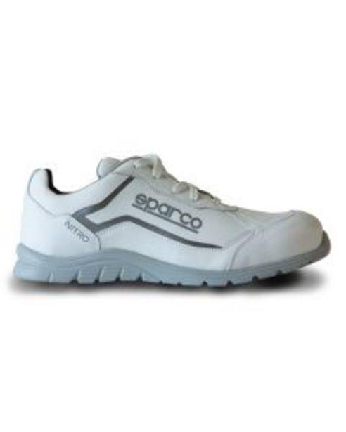 Oferta de Zapato seguridad s3 suela pu md src puntera composite t40 piel blanco nitro sparco por 89,48€