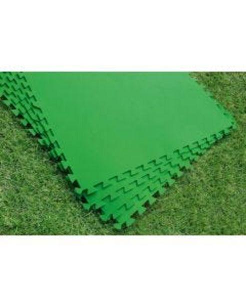 Oferta de Suelo piscina 78x78cm encajable bestway eva verde 58265 9 pz por 34,94€