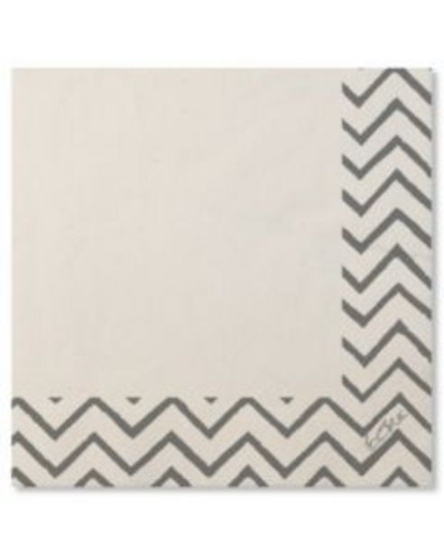 Oferta de Servilleta mesa 33x33 papel blanco/plata chevron extra 20 pz 07rca 118161 por 1,15€