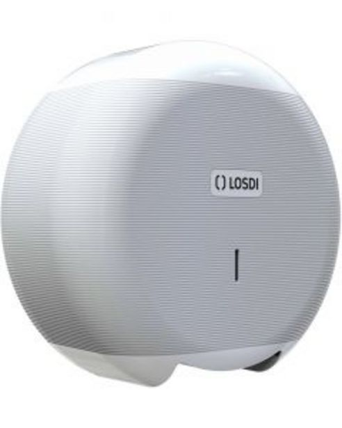 Oferta de Portarrollo baño industrial 266x276x115mm abs blanco eco luxe losdi 1 ud cp-3006-b por 8,77€