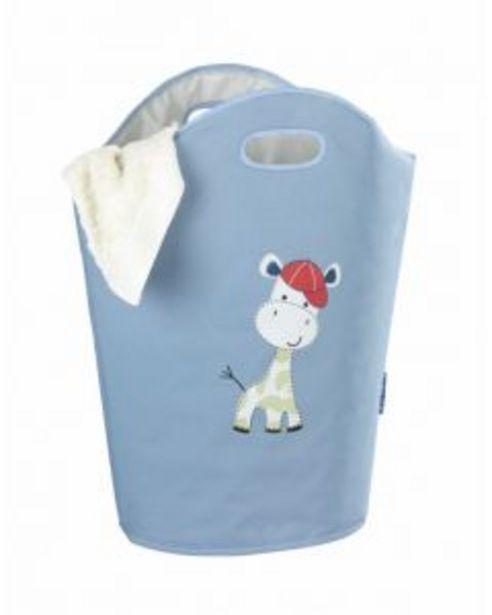 Oferta de Cesto ordenacion ropa 40x52cm azul poliester kids gerry wenko por 9,93€