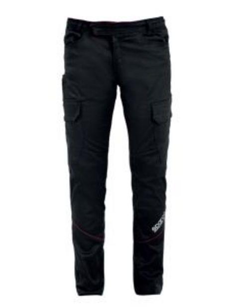 Oferta de Pantalon trabajo multibolsillo xl algodón/elastano negro boston sparco por 48,34€