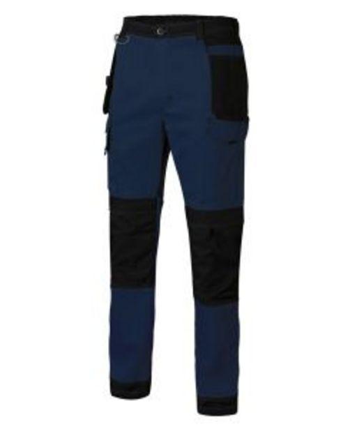 Oferta de Pantalon trabajo multibolsillos con refuerzo xl 98%algodón 2%elastano azul navy/ por 30,19€