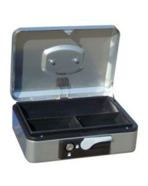 Oferta de Caja alhajas con pulsador 300x240x90mm plata n.4 vivahogar por 13,46€