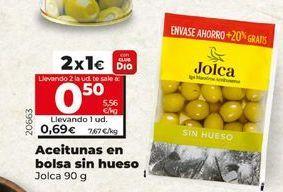 Oferta de Aceitunas sin hueso Jolca por 1€