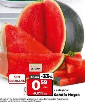 Oferta de Sandía negra por 0,59€