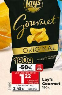 Oferta de Patatas fritas Lay's Gourmet  por 2,45€