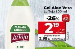 Oferta de Gel de baño La Toja por 2,19€