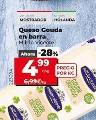 Oferta de Queso gouda en barra por 4,99€