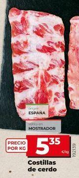 Oferta de Costillas de cerdo por 5,35€