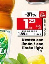 Oferta de Nestea con limón/ con limón light  por 1,29€