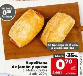 Oferta de Napolitanas de jamon y queso  por 0,7€
