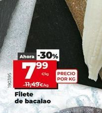Oferta de Filetes de bacalao por 7,99€