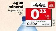 Oferta de Agua mineral Aquabona por 0,33€