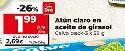 Oferta de Atún claro en aceite de girasol Calvo por 1,99€