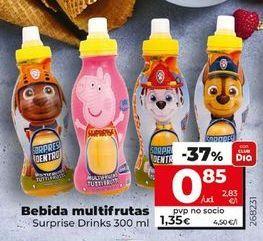Oferta de Bebidas Multifrutas Suprise Drinks  por 0,85€