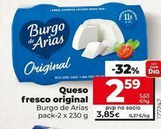 Oferta de Queso fresco Burgo de Arias por 2,59€