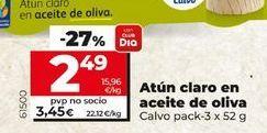 Oferta de Atún claro en aceite de oliva Calvo por 2,49€