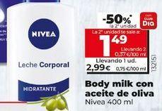 Oferta de Body milk con aceite de oliva NIVEA por 2,99€