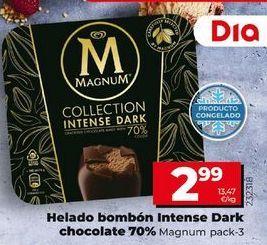 Oferta de Helado bombón intense Dark Chocolate 70% Magnum por 2,99€