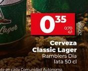 Oferta de Cerveza Classic lager  Dia por 0,35€