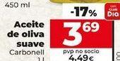 Oferta de Aceite de oliva suave Carbonell por 3,69€