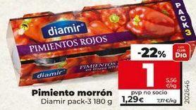 Oferta de Pimientos morrones Diamir por 1€