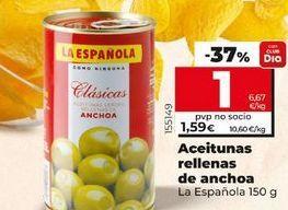 Oferta de Aceitunas rellenas de anchoa La Española por 1€