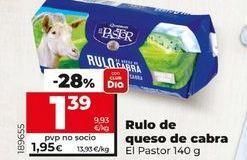 Oferta de Rulo de queso de cabra El Pastor por 1,39€