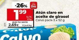 Oferta de Atún claro en aiceite de girasolCalvo por 1,99€