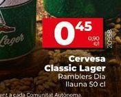 Oferta de Cerveza Classic lager  Dia por 0,45€