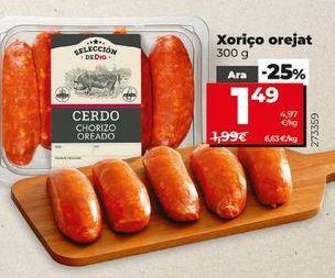Oferta de Chorizo oreado por 1,49€