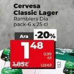 Oferta de Cerveza Classic lager  Dia por 1,48€