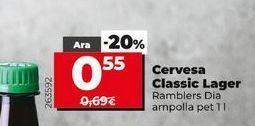 Oferta de Cerveza Classic lager  Dia por 0,55€