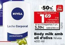 Oferta de Body milk con aceite de oliva NIVEA por 3,39€