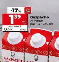 Oferta de Gazpacho Al Punto por 1,39€