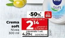 Oferta de Crema Soft Nivea por 4,24€