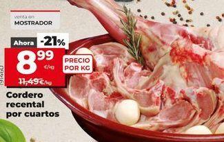 Oferta de Cordero recental por cuartos  por 8,99€
