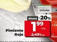 Oferta de Pimientos rojos por 1,99€