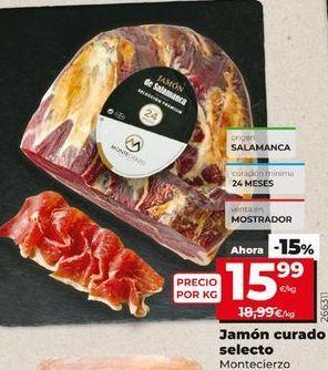 Oferta de Jamón curado selecto Montecierzo  por 15,99€