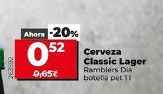 Oferta de Cerveza Classic lager  Dia por 0,52€