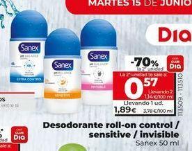 Oferta de Desodorante roll on Sanex por 1,89€